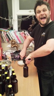 Lewie bottling the good stuff!