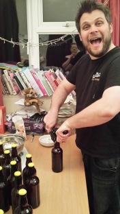 Lewie bottling the good stuff!