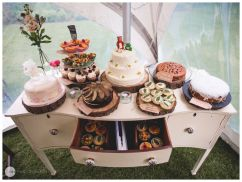 I loved this cake table!