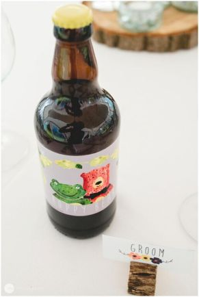 Favour for the boys; our very own home brew, Hoppy Bear!