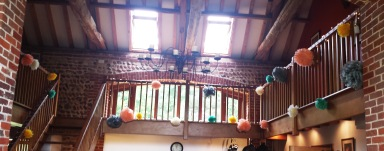 Our dance area and due to rain our lovely ceremony room.