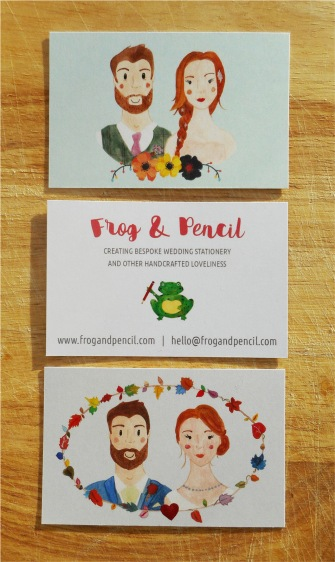 Frog & Pencil Business Card Group 2
