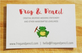 Frog & Pencil Business Card Back
