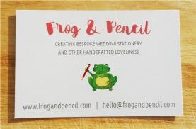 Frog & Pencil Business Card Back