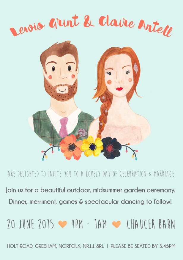 Wedding invite example
