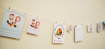 Hanging Wedding Invitations
