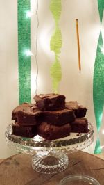 Pandora's Kitchen Salted Caramel Brownies