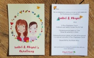 Kula Christening Invitation front & back.