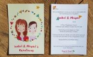 Kula Christening Invitation front & back.