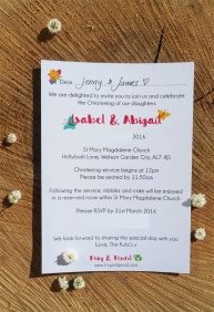 Kula Christening Invitation wording.