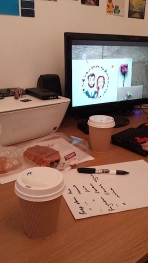 Editing images with N.J Photography...with coffee & pastries of course!