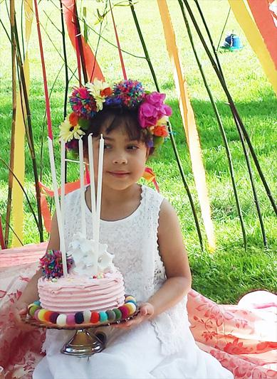 Mexicana Photoshoot Behind the Scenes Cake Set Up