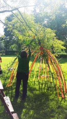 Mexicana Photoshoot Behind the Scenes - Tipi Construction and decoration