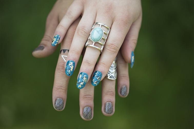 Mexicana Photoshoot wedding nails by Beauty Hobo - Credit Bigphatphotos