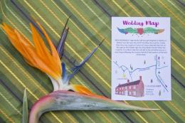 Frog & Pencil Diego & Frida Wedding Map from Mexicana Photoshoot - Credit to Bigphatphotos