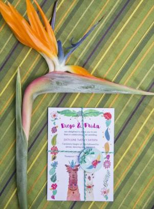 Frog & Pencil Diego & Frida Wedding Invitation Pack from Mexicana Photoshoot - Credit to Bigphatphotos