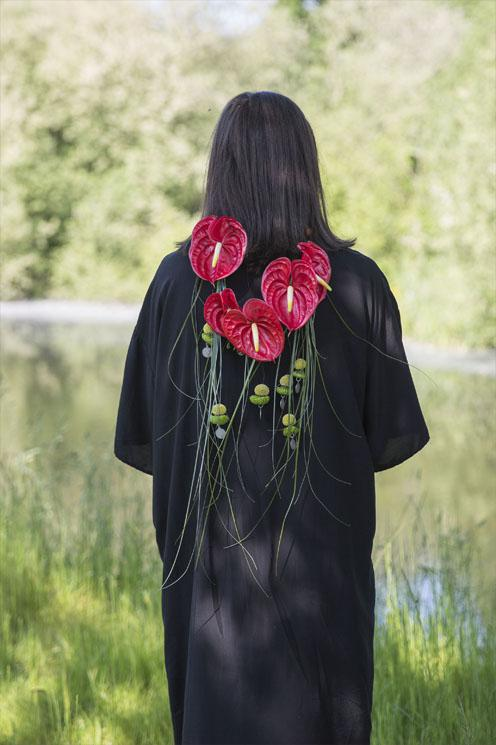 Mexicana Photoshoot Groom floral neck piece - Credit Bigphatphotos