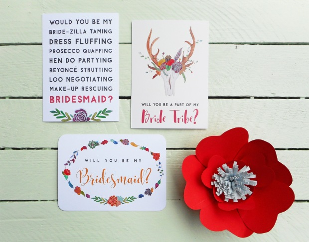 Will your be my bridesmaid cards by Frog & Pencil