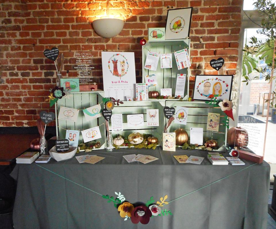 Frog & Pencil's Wedding Stationery stand at TMUWF