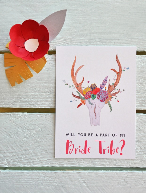 Will you be a part of my bride tribe? postcard