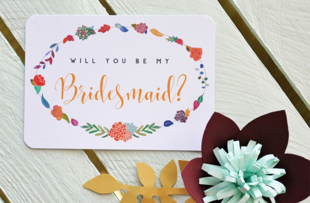 Will you be my bridesmaid? postcard.