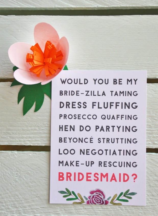 Bride-zilla taming postcard.