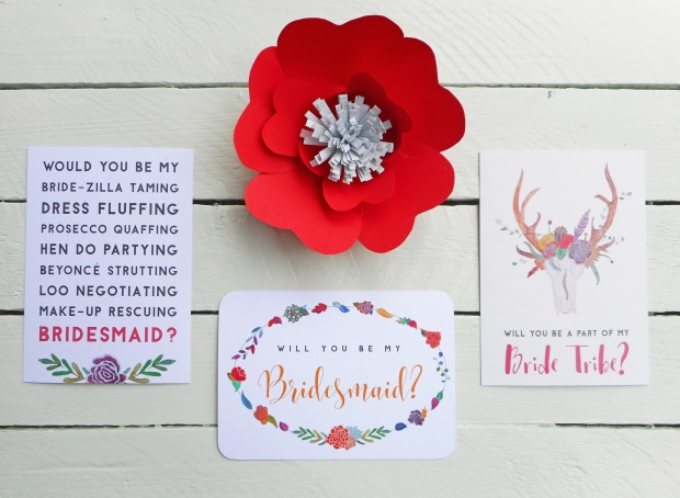 Will you be my bridesmaid? postcard collection.