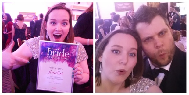 Frog & Pencil celebrating at the EDP Bride Wedding Awards.