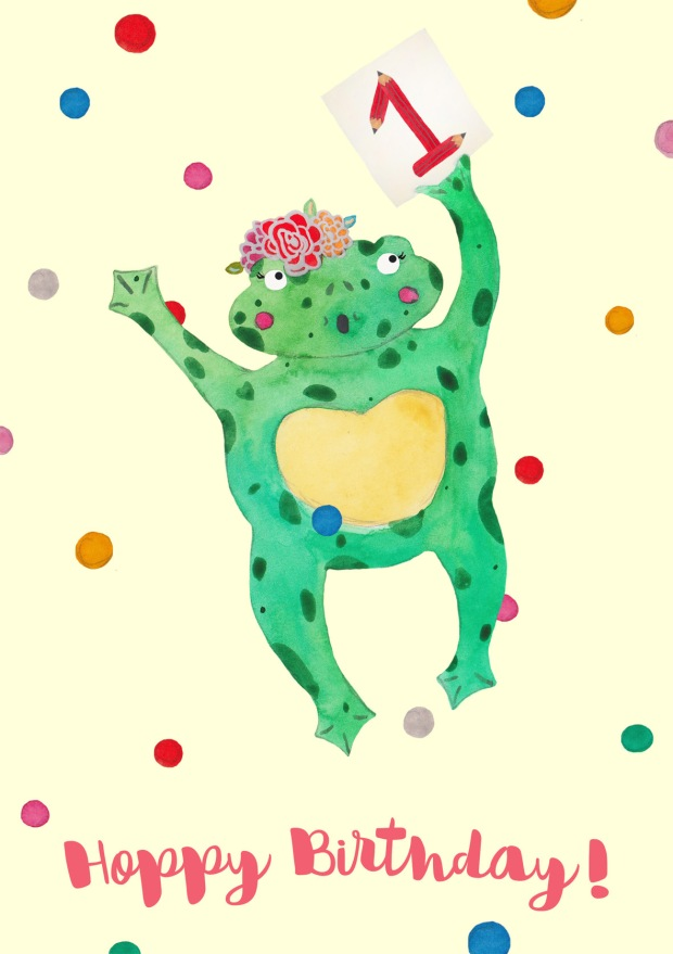 Hoppy First Birthday Frog & Pencil!