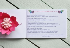 Abi & Rob Little Bespoke Book Wedding Invitation - Accommodation
