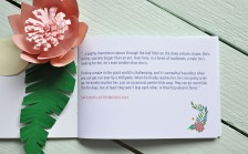 Abi & Rob Little Bespoke Book Wedding Invitation quote page.