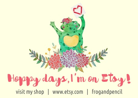 Frog & Pencil's Etsy shop is now open!