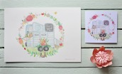 The Little Horse Box Illustration and Card