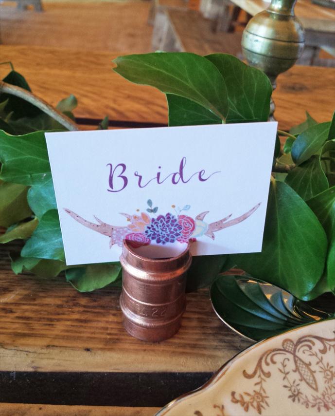 Boho-Tipi Wedding Collection Name Card