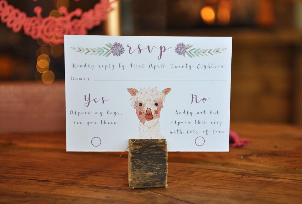 Boho-Tipi Wedding Stationery Collection RSVP