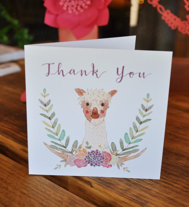Boho-Tipi Wedding Stationery Collection Thank You Card