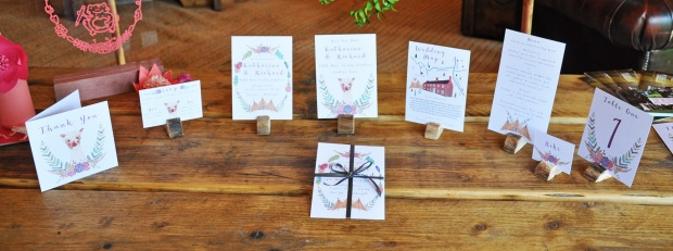 Boho-Tipi wedding stationery collection.