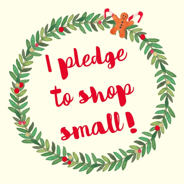 I pledge to shop small badge